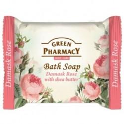 Green Pharmacy Bath Soap mydło w kostce Róża Damasceńska i Masło Shea 100g
