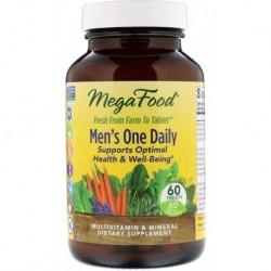 Mega Food Men`s One Daily suplement diety dla mężczyzn 60 tabletek