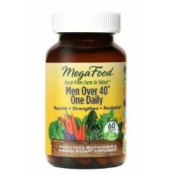 Mega Food multiwitaminowy i mineralny codzienny suplement diety dla mężczyzn powyżej 40 roku życia 60 tabletek