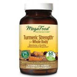 Mega Food Turmeric Strength For Whole Body kurkuma suplement diety 60 tabletek
