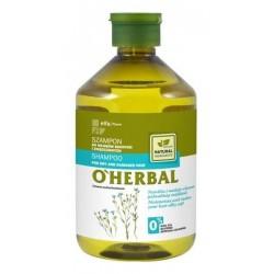 O`Herbal Shampoo For Dry And Damaged Hair szampon do włosów suchych i zniszczonych z ekstraktem z lnu 500ml