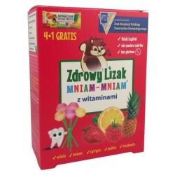 Starpharma Mniam Mniam Zdrowy Lizak z Witaminami suplement diety 4+1 x6g
