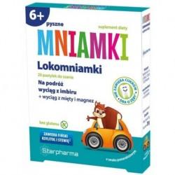 Starpharma Mniamki Lokomniamki na podróż suplement diety o smaku pomarańczowym 20 pastylek do ssania