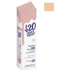 Under Twenty Anti Acne matująco-antybakteryjny krem BB 01 Jasny 30ml