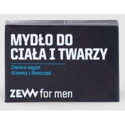 Zew For Men Mydło do ciała i twarzy zawiera węgiel drzewny z Bieszczad 85ml