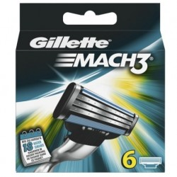 Gillette Mach 3 Wymienne ostrza do maszynki do golenia 6szt