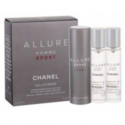 Chanel Allure Homme Sport Eau Extreme Woda toaletowa 20ml spray + 2 x 20ml wkład