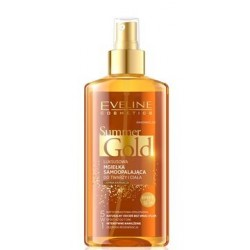 Eveline Summer Gold 5w1 luksusowa mgiełka samoopalająca do twarzy i ciała do ciemnej karnacjii 150ml