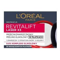 L`Oreal Revitalift Laser X3 Peeling przeciwzmarszczkowy glikolowy w płatkach 30szt