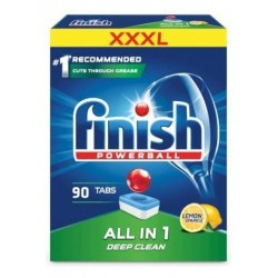 Finish Powerball All In 1 Deep Clean tabletki do mycia naczyń w zmywarkach XXXL Lemon Sparkle 90szt