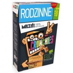 Milzu Crunchies Bio Rye & Oat płatki żytnio-owsiane Cinnamon 450g