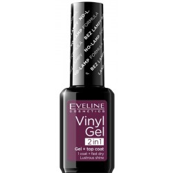 Eveline Vinyl Gel + Top Coat 2in1 lakier winylowy 209 12ml