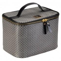 Auri Simple Black & White kuferek kosmetyczny duży