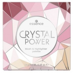 Essence Crystal Power Blush & Highlighter Palette paleta róż & rozświetlacz 14g