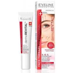 Eveline Face Therapy Professional S.O.S. ekspresowe serum redukujące zmarszczki pod oczy ma czoło i okolice ust 15ml