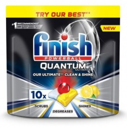 Finish Powerball Quantum Ultimate tabletki do mycia naczyń w zmywarkach Lemon 10szt