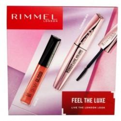 Rimmel Feel The Luxe Oh My Gloss błyszczyk do ust 330 Snog 6,5ml + Wonder`luxe Volume tusz do rzęs Black 11ml
