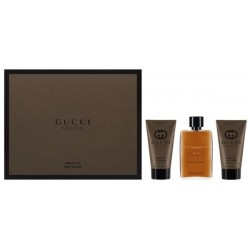 Gucci Guilty Absolute Pour Homme Woda perfumowana 50ml spray + Balsam po goleniu 50ml + Żel pod prysznic 50ml