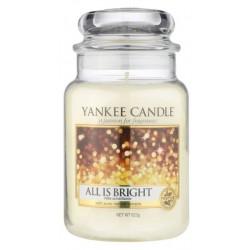 Yankee Candle Large Jar duża świeczka zapachowa All is Bright 623g