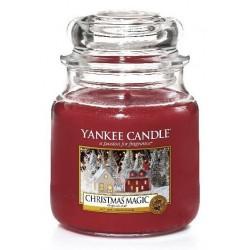 Yankee Candle Med Jar średnia świeczka zapachowa Christmas Magic 411g