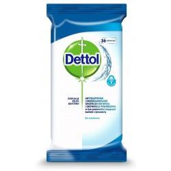 Dettol Antybakteryjne i drożdżakobójcze chusteczki do mycia i dezynfekcji powierzchni 36szt
