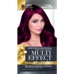 Joanna Multi Effect Keratin Complex Color Instant Color Shampoo szamponetka koloryzująca 06 Wiśniowa Czerwień 35g