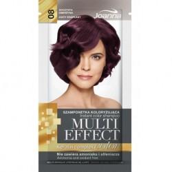 Joanna Multi Effect Keratin Complex Color Instant Color Shampoo szamponetka koloryzująca 08 Soczysta Oberżyna 35g
