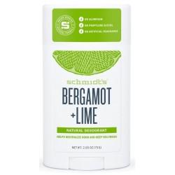 Schmidt`s Natural Deodorant Naturalny dezodorant w sztyfcie Bergamotka & Limonka 58ml
