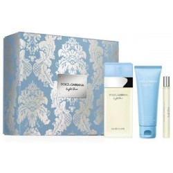 Dolce & Gabbana Light Blue Pour Femme Woda toaletowa 100ml spray + Krem do ciała 75ml + Woda toaletowa 10ml