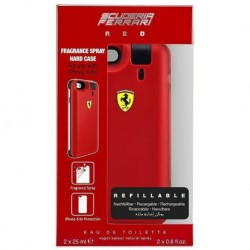 Ferrari Red Woda toaletowa 25ml spray + 25ml WKŁAD + Etui na telefon iPhone 6/6s