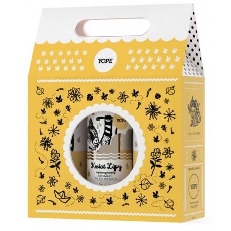 Yope żel pod prysznic Kwiat Lipy 400ml + balsam do rąk i ciała Kwiat Lipy 300ml + mydło do rąk Kwiat Lipy 500ml