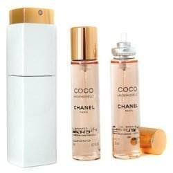Chanel Coco Mademoiselle Woda toaletowa 20ml spray + Woda toaletowa 2 x 20ml spray wkład uzupełniający