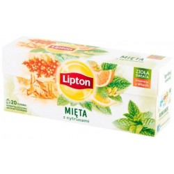 Lipton Herbata ziołowa Mięta z Cytrusami 20 torebek 26g
