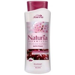 Joanna Naturia Family Relaxing Bath Foam relaksujący płyn do kąpieli Kwiat Wiśni 750ml