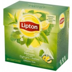 Lipton Green Tea herbata zielona Cytryna i Melisa 20 torebek 32g