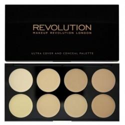 Makeup Revolution Ultra Professional Cover & Concealer Palette Paleta 8 korektorów Light 10g