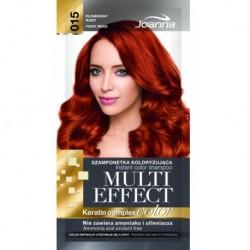 Joanna Multi Effect Keratin Complex Color Instant Color Shampoo szamponetka koloryzująca 015 Płomienny Rudy 35g