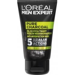 L`Oreal Men Expert żel do mycia twarzy przeciw niedoskonałościom Pure Charcoal 100ml