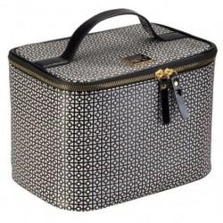 Auri Simple Black & White kuferek kosmetyczny wysoki
