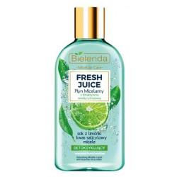 Bielenda Fresh Juice płyn micelarny detoksykujący z wodą cytrusową Limonka 100ml