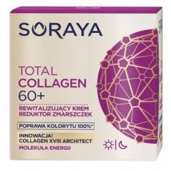 Soraya Total Collagen 60+ krem rewitalizujący reduktor zmarszczek na dzień i noc 50ml