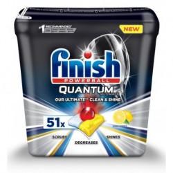 Finish Powerball Quantum Ultimate tabletki do mycia naczyń w zmywarkach Lemon 51szt