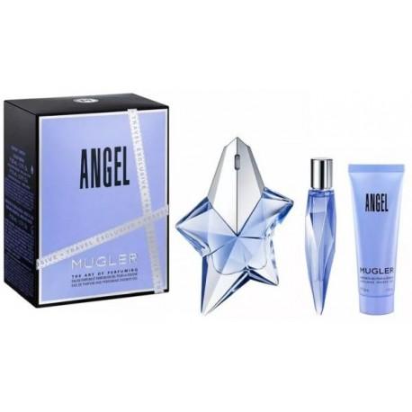 Mugler Angel Woda perfumowana 50ml spray + 10ml + Żel pod prysznic 50ml
