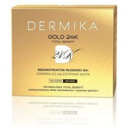 Dermika Gold 24K Total Benefit 65+ rekonstruktor młodości na dzień/na noc 50ml