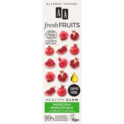 AA Fresh Fruits maseczka nawilżająca z olejkiem z granatu 40ml