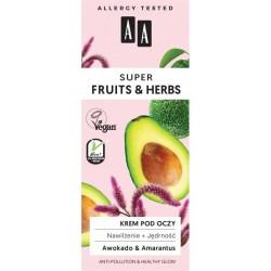 AA Super Fruits & Herbs krem pod oczy nawilżenie + jędrność 15ml