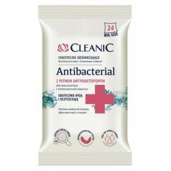 Cleanic Antibacterial odświeżające chusteczki antybakteryjne 24szt