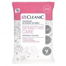 Cleanic Sensitive Care chusteczki do higieny intymnej 10szt