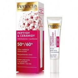 Perfecta Peptydy & Ceramidy 50+/60+ krem pod oczy i na powieki silna redukcja zmarszczek i rozjaśnienie cieni 15ml