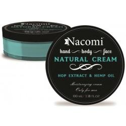 Nacomi Natural Cream naturalny krem z olejem konopnym i ekstraktem z chmielu dla mężczyzn 100ml